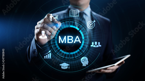 MBA Master of business administration Education concept. Fototapet
