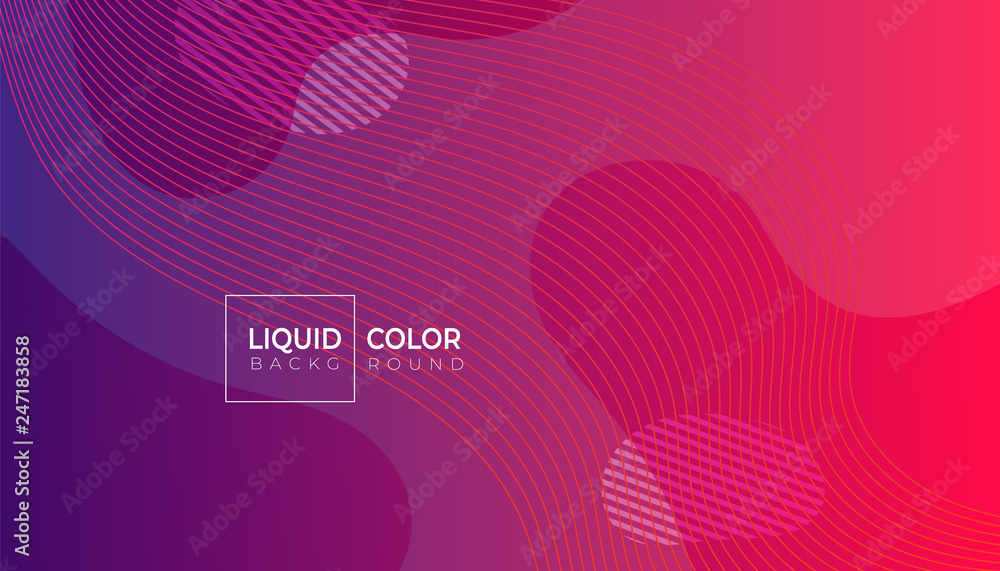 Fototapety, obrazy: Liquid gradient colorful geometric background.