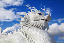 Dragon Statue On Blue Sky.