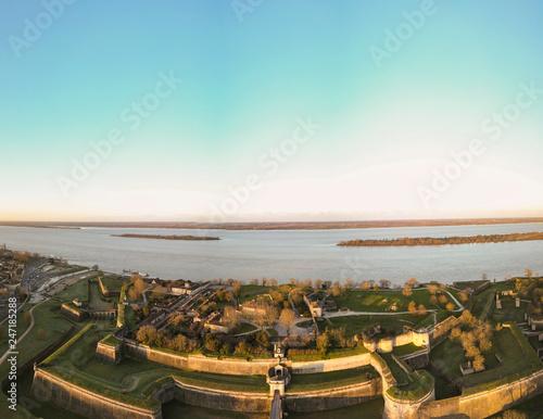 Fotografiet Aerial view, Blaye Citadel, UNESCO world heritage site in Gironde, France