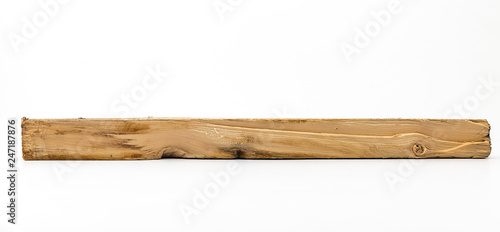 Fotografía  Timber is cut isolated on white