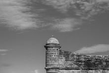 Fort In Black And White