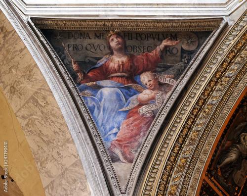 Photo Fresco Esther by Raffaele Vanni in the Church of Santa Maria del Popolo, Rome, I