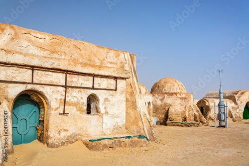 Star Wars in the Desert Canvas Print