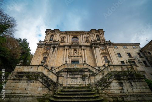 33490296l Samos Lugo Spain 01 27 2019 The Monastery Of St Julian Of Samos Active Benedictine Monastery In Galicia Cloudy Day Camino De Santiago Buy This Stock Photo And Explore Similar Images At