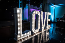 LOVE Sign Used At A Wedding