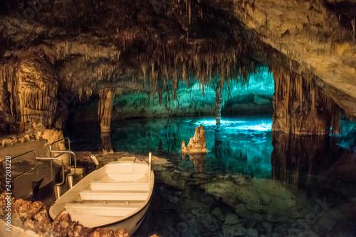 Famous cave Cuevas del Drach in Porto Christo Mallorca, Wallpaper Mural