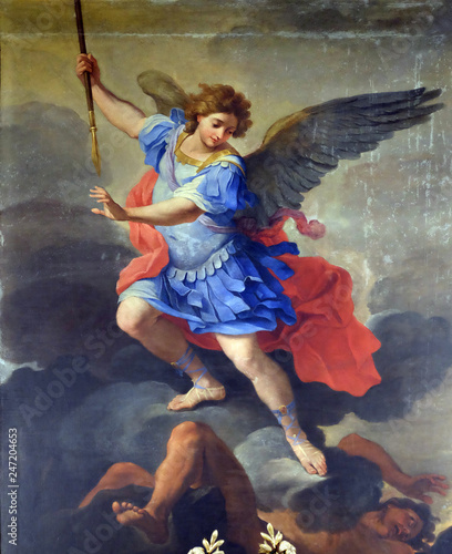 Tela St Michael the Archangel, altarpiece by Ludovico Gimignani in Chapel of St Micha