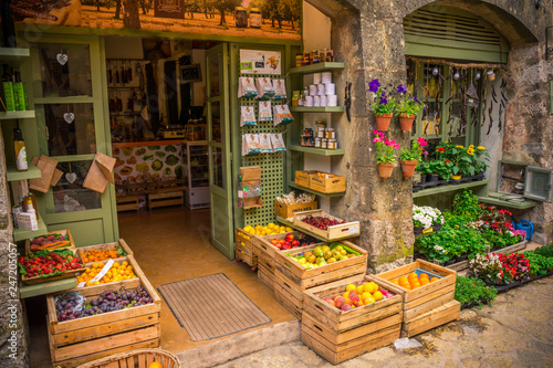 Staande foto Marokko Local vegetable store, Valldemossa, Mallorca Spain.
