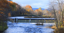 Mill Dam In Westfield, Massachusetts