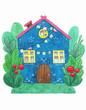 Leinwanddruck Bild - Beautiful spring house