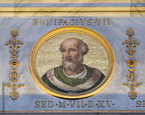 Antipope Boniface VII (Franco Ferrucci, died July 20, 985), was an antipope (974 Canvas Print
