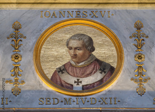 Pope Antipope John XVI, born John Filagatto was Pope from 997 to 998, the basili Wallpaper Mural