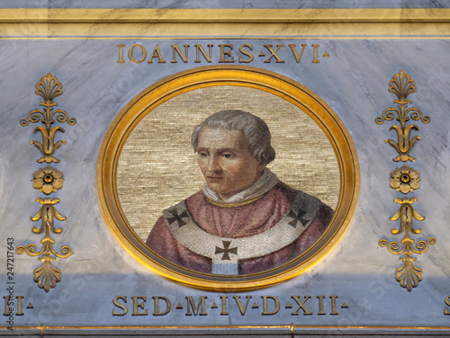 Photo Pope Antipope John XVI, born John Filagatto was Pope from 997 to 998, the basili