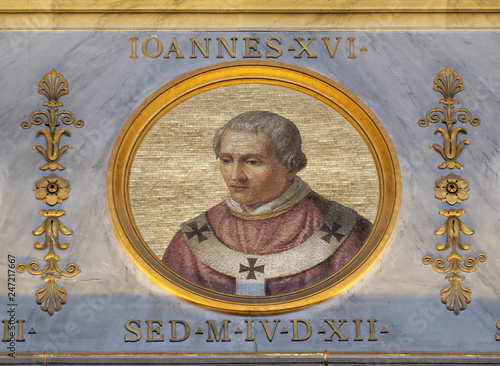 Pope Antipope John XVI, born John Filagatto was Pope from 997 to 998, the basili Canvas Print