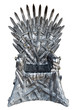 Leinwandbild Motiv Swords vintage throne isolated on white background