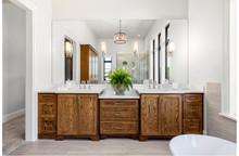 Beautiful Bathroom In New Luxu...