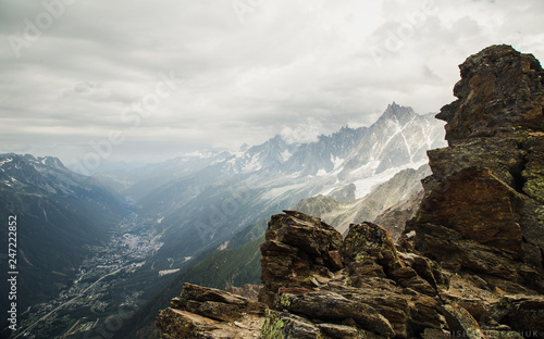 Aluminium Prints Gray traffic Beautiful landscape in pearl of the Alps - Chamonix, near mount Montblanch