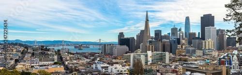 Fotografía  San Francisco City Downtown general view, California