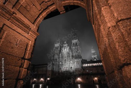 33490296L, Santiago de Compostela, la coruña, Spain, 01/30/2019, cathedral by ni Fototapet