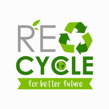 Poster Art Of Recycle Sign Wit...