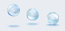 Collagen Droplets Set Isolated...