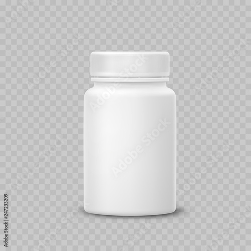 f3a2252d6ede Bottle mockup isolated on transparent background. White medicine ...