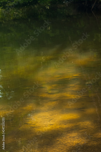 Fotografía  Mountain landscape with river details and water texture