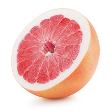 Half Of Grapefruit Isolated On...