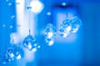 canvas print picture - Glass decorations. Crystal. Faceted glass. Balls of crystal. The decor.