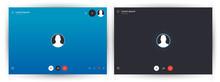 Skype Call Screen Template. Mobile Skype Layout, Mockup Skype. UI,UX,Kit Interface. Call Screen. Vector Illustration Eps10