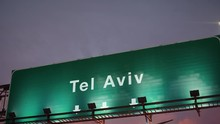 Airplane Landing Tel Aviv During A Wonderful Sunrise