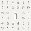 bottle of water dusk icon. Drinks & Beverages icons universal set for web and mobile