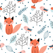 Seamless Pattern With Forest A...