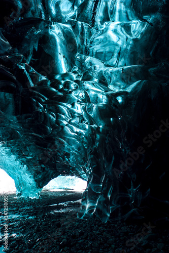 Inside an Ice Cave background