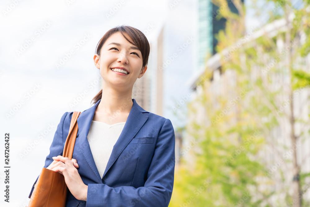 Fototapeta 笑顔の女性 ビジネス