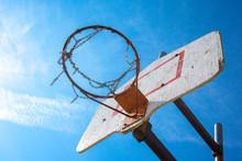 Time Worn Rusty Metal Basketba...