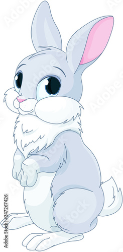 Poster Sprookjeswereld Cute Bunny