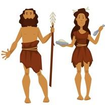 Stone Age Primitive Man And Wo...
