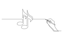 Hand Drawing Business Concept Sketch Of Music Notes