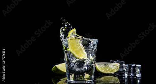 Photo Mexican tequila splash