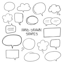 Hand Drawn Speech Bubble Colle...