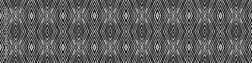 Fotografia  Dark black and white Seamless Border Scroll. Geome