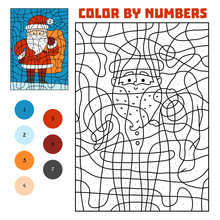 Color By Number, Santa Claus