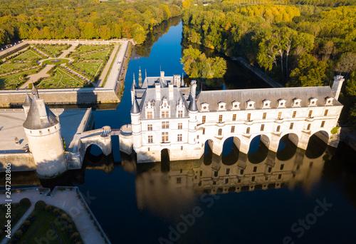 Fotobehang Historisch geb. Chateau de Chenonceau, France