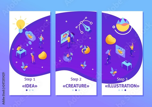 Photo Isometric Application Creative Studio