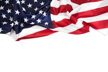 American Flag Border Isolated ...