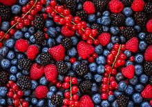 Berries Overhead Background. F...
