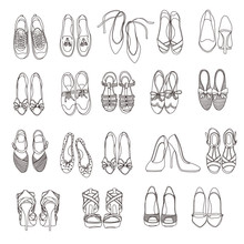 Lady's Shoes Illustration,