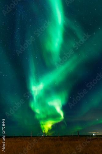 Obraz na plátně aurora borealis in iceland